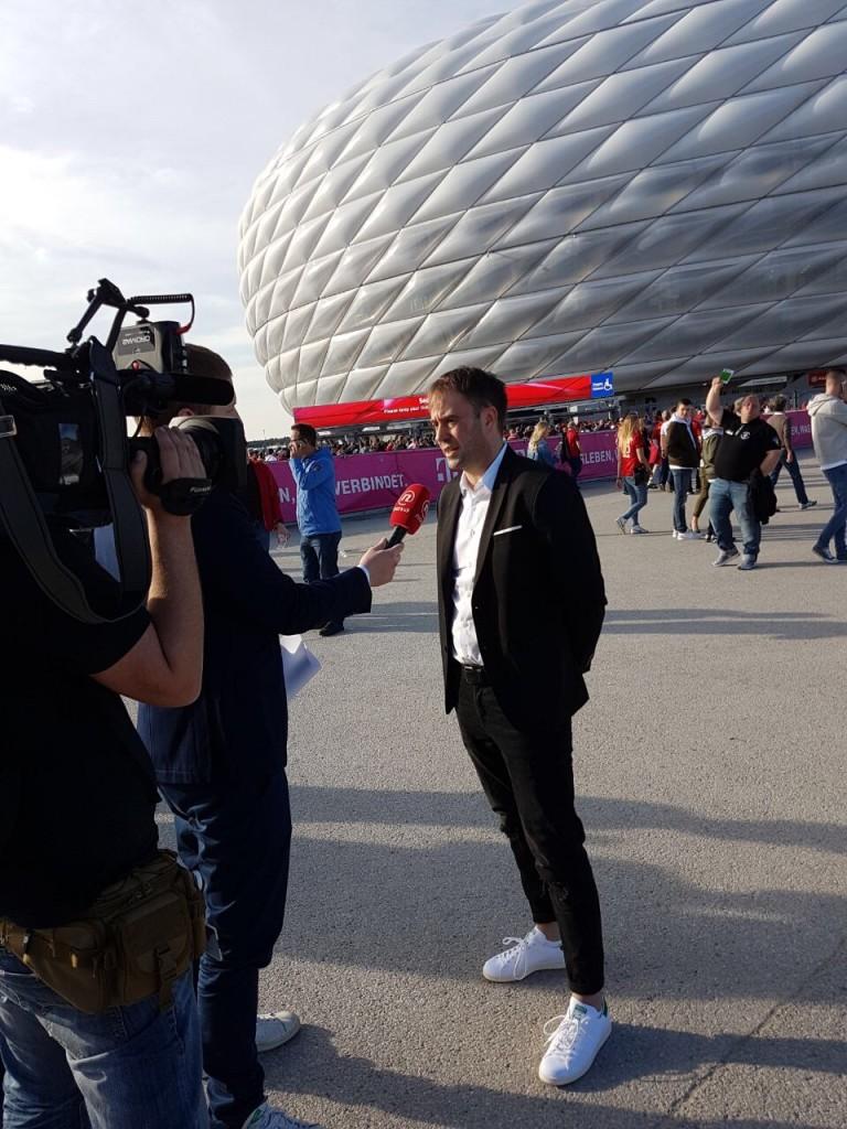 """Der kroatische Sender """"Nova TV"""" fliegt für ein Interview nach München ein"""