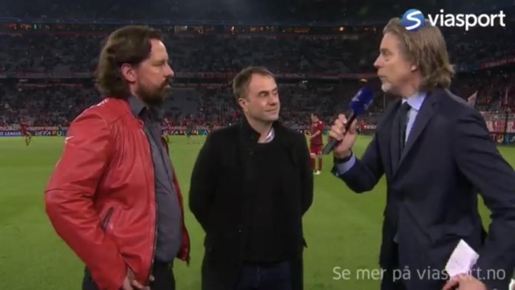 Interview bei Jan (r.) mit Kollege Jörg für das skandinavische Fernsehen