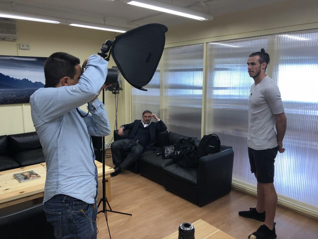 Foto-Shooting mit Bale im Studio