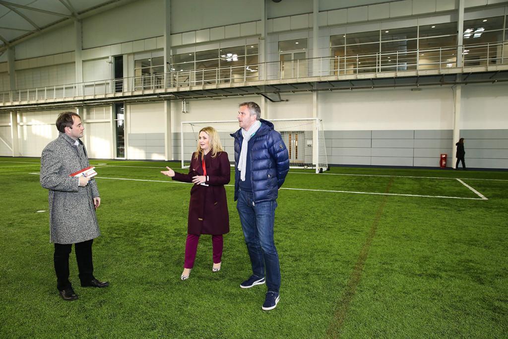 Dietmar Hamann Burton upon Trent, 15.01.2018, Fussball England, FA, Besuch im St George's Park National Football Centre