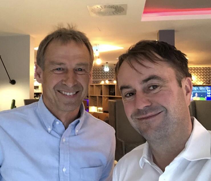 Eingecheckt bei uns im Hotel: Jürgen Klinsmann